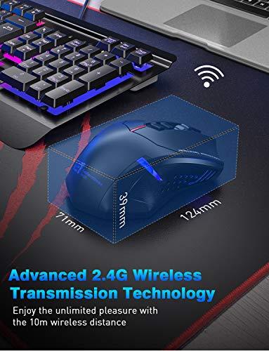 Souris de jeu sans fil 2.4G VicTsing Mini Noir - 6