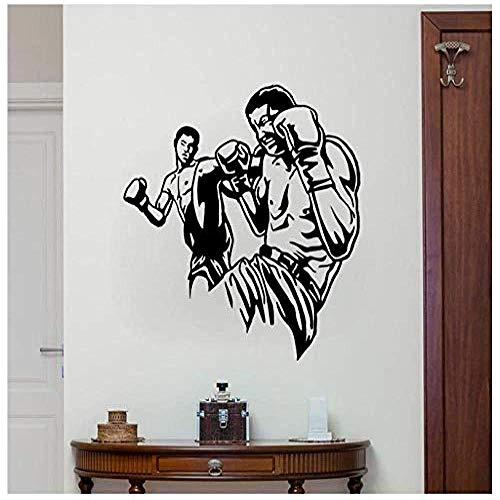Wandaufkleber,Lustige Boxhandschuhe Weihnachtsaufkleber Mode Kreativ Wohnzimmer Schlafzimmer Hauptfenster Badezimmer Büro Schlafsaal Shop Dekor 55 * 63cm