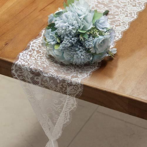 RUSPEPA Tischläufer Weiße Spitze – Vintage Spitze Weiß Stoff Tischband Für Hochzeit Party Dekoration - 18 cm x 300 cm