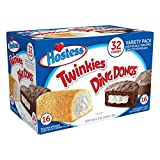Hostess Twinkies & Ding Dongs (16 Twinkies & 16 Ding Dongs), Individually Wrapped, 32 Tota...