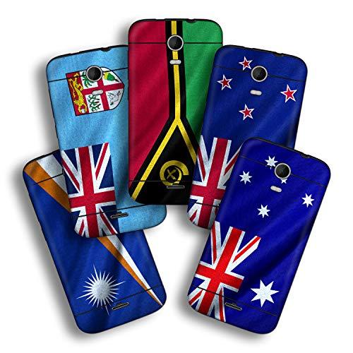 atFolix Designfolie kompatibel mit Wiko Darkmoon, wähle Dein Lieblings-Design aus, Skin Aufkleber (Flaggen aus Australien & Ozeanien)