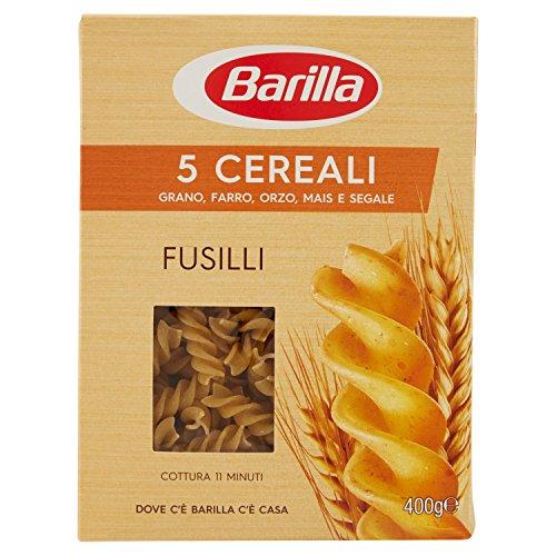 Barilla Pasta Fusilli 5 Cereali, Pasta Corta di Semola di Grano Duro, Orzo, Farro, Mais e Segale: 400 gr