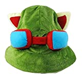 thematys Teemo Gorra League of Legends LOL Carnaval y Cosplay - Disfraz de Adulto y Niños - Unisex Talla única