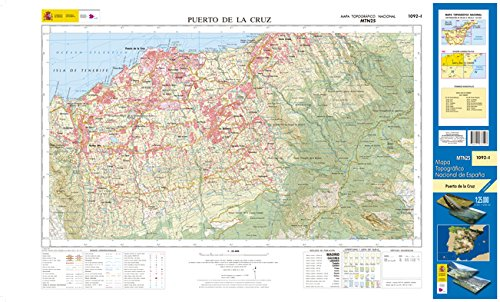 1092-1 Puerto de la Cruz. Mapa Topográfico Nacional 1:25.000