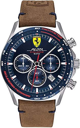 Scuderia Ferrari Orologio Quarzo con Cinturino in Pelle 830711