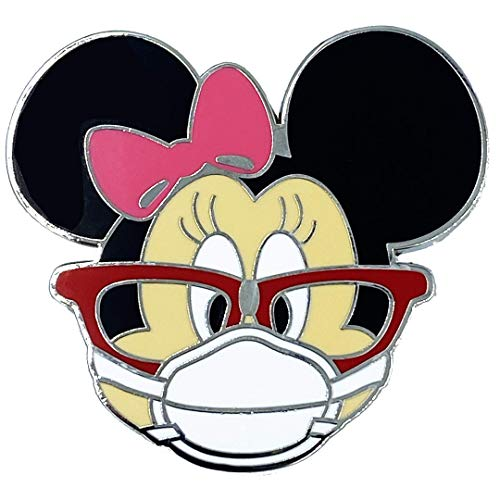 LEO Challenge Coins EE-012 Mouse Mask Pin Inspired by Minnie Nurse Doctor Pharmacist Essential Worker