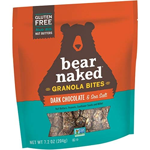 Bear Naked Dark Chocolate Sea Salt Granola Bites - Gluten Free, Non-GMO, Kosher, Vegan - 7.2 Oz