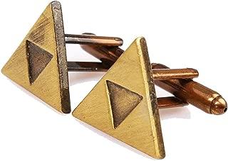 Geek & Glitter Legend of Zelda Cufflinks for Men - 6 Styles to Choose from - Breath of The Wild - Links Awakening Cuff Links Triforce Cuffs Zelda Gifts for Men