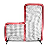 Armor 7X7 Best Baseball L Screen for Batting Cage and On Field Use. Voted Best 7x7 Protective Baseball L-Screen (Red)