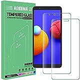 AOKUMA Cristal Templado Samsung Galaxy A01 Core, [2 Unidades] Protector Pantalla para Samsung Galaxy A01 Core Robusto Antiarañazos Antihuellas con Borde Redondeado Dureza 9H+ Antiburbujas