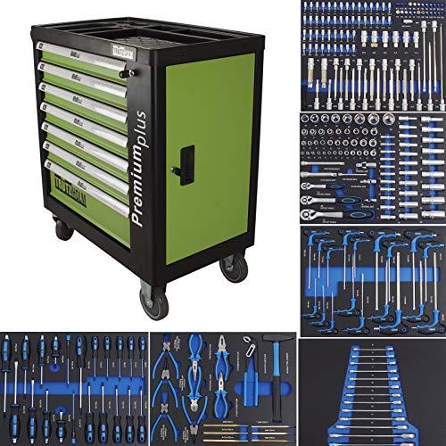 TRUTZHOLM® Werkstattwagen Premium Profi bestückt Montagewagen gefüllt Werkzeugwagen Assistent