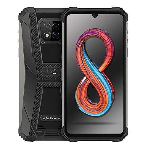 Ulefone Armor 8 Pro Rugged Smartphone Android 11, 6GB + 128GB, Octa-core Cellulari Antiurto, 6,1 Pollici Telefoni Impermeabili, 5580mAh, Supporta MicroSD da 1 TB, Fotocamera 16MP+8MP+5MP+2MP(Nero)