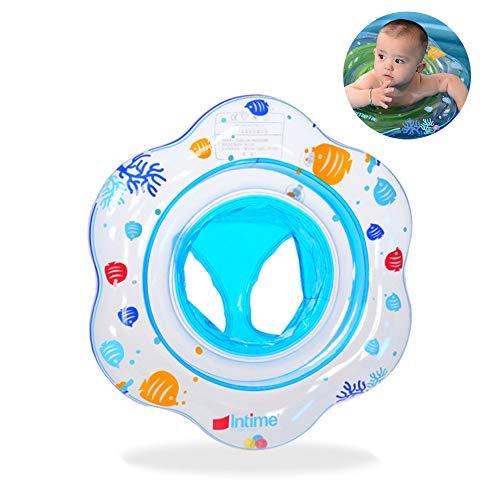 SDFY Kinder-Schlauchboot Baby Schwimmring ,Mini Kinderboot Schwimmhilfe mit Schwimmsitz für Kleinkind ca. 50 cm(Blau)