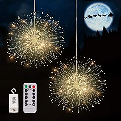 Ospetty Firework Lights 120 LED Christmas Decor...