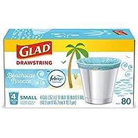 80-Count Glad OdorShield Small Drawstring Trash Bags