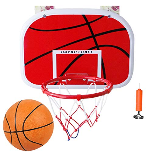 Basketballkorb YXX Kinder Raum Und Wand, Kleiner Basketballständer Mit Gummiball Und Pumpe, Basketballspielzeug Geschenk Für Jungen Und Mädchen (Size : Large(46x32.5cm))