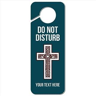 GRAPHICS & MORE Personalized Custom 1 Line Cross Christian Religious Do Not Disturb Plastic Door Knob Hanger Sign