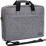 MCHENG 17-17,3 Zoll Wasserabweisend Notebooktasche Business Aktentaschen Laptoptasche Schultertasche Handtasche Tragetasche Umhängetasche mit Griff und Abnehmbare und Verstellbare Schultergurt, Grau
