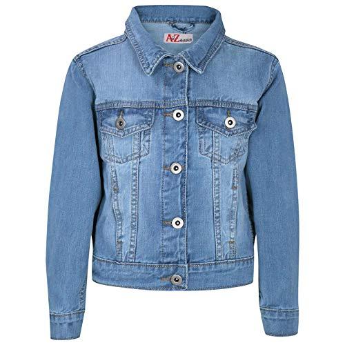 A2Z 4 Kids Enfants Filles Vestes Designer Jeans Style Branché - Girls Denim Jacket J12 Light Blue 11-12