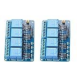 MUZOCT 2pcs 4 Canali Relé DC 5V Modulo Relay con Optoisolatore Accoppiatore per Arduino Uno R3 Mega 2560 1280 DSP Arm PIC AVR STM32 Raspberry Pi
