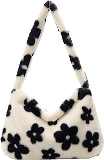 KANUBI Umhängetaschen, Plüschhandtaschen, Handtaschen, Blumenkupplungen, flauschige Handtaschen, Geldbörsen unter den Arme...