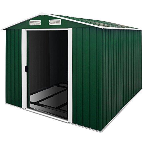 Abri de jardin en métal - cabane cabanon rangement outils jardin bricolage 14,65m³