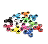 Fidget Hand Spinners 25 PC Color Bundle Bulk EDC Tri-Spinner Desk School Toy Anxiety Relief ADHD Student Relax Therapy Pack Combo Wholesale Green Red Black White Blue Yellow Glow Pink Glow Sky Blue