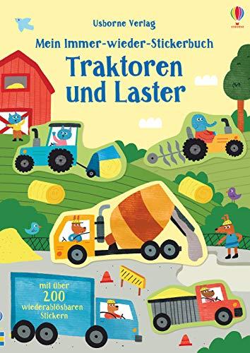 Mein Immer-wieder-Stickerbuch: Traktoren und Laster
