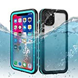 DOOGE iPhone 11 Pro Max Waterproof Case, IP69K Shockproof/Dirtproof/Snowproof Full-Sealed Full-Body Heavy Duty Protective Case Built-in Screen Protector for iPhone 11 Pro Max 6.5 Inch