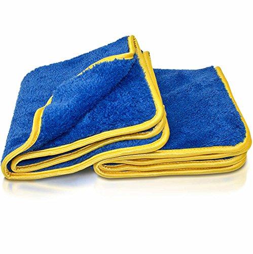 Petzoldts Microfasertuch Doppelpack – Microfaser Trockenwäsche- & Detailingtücher für flüssige Reinigungs- & Pflegemittel für Glanz- & Mattlack & Car Wrapping Folie. Auto, Motorrad, Boot, Campingmobil