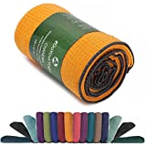 Rutschfestes Yogahandtuch mit Silikon-Dots (Noppen) »Chandra« Anti-Slip Oberfläche Premium Yoga Towel BZW. Sporthandtuch. Größe ca. 183 x 62 cm/erhältlich in den Trendfarben: orange