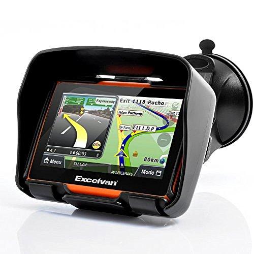 Excelvan 8GO 4.3 'Motos Bike GPS SATNAV Navigation étanche IPX7 Bluetooth Win CE6.0 - Orange