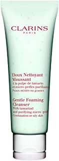 Clarins Gentle Foaming Cleanser with Tamarind and Purifying Micro-Pearls | Facial Wash for Combination or Oily Skin | Gently Cleanses, Softens, and Smoothes While Maintaining Balance | 4.4 oz