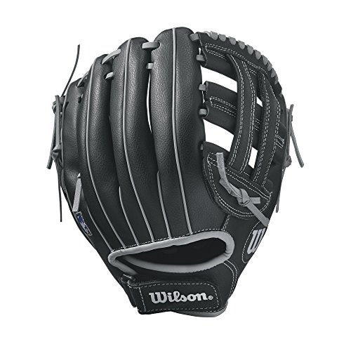 WILSON A360 Baseballhandschuh, Black/Gray/Dual Post Web