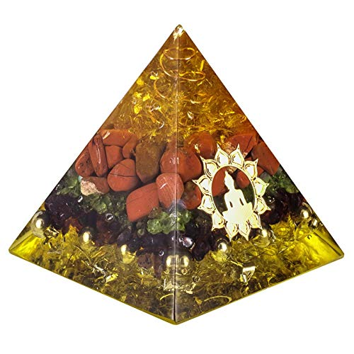 ZTTT Steine Pyramide mit Goldfarbe Buddha (Color : Orgone Pyramid)