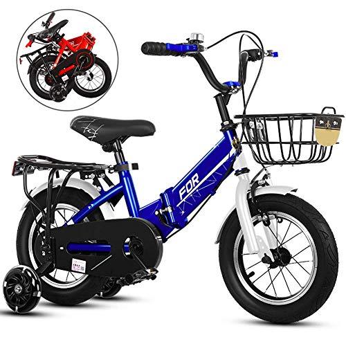QINFEN 16/18/20 Pulgadas Bicicleta Infantil Estudio Aprendizaje Montar a Caballo Bicicleta niños...