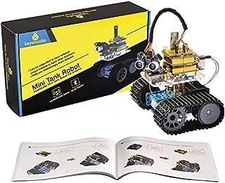KEYESTUDIO Smart Robot Car Kit for Arduino, Robot Tank w/ R3 Board, Line Tracking Module, Ultrasonic Sensor, IR Modules et...