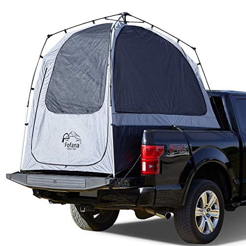 Truck Bed Tent Automatic Setup - Full Size Truck Tent   6' Standing Height, Panoramic Windows, Full Coverage Weatherproof Rainfly   Sleep Off The Ground and Under The Stars