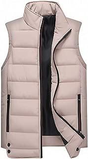Sunward Coat for Men,Men's Autumn Winter Coat Padded Cotton Vest Warm Hooded Thick Vest Jacket Top