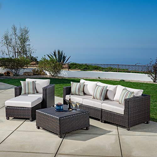 AE Outdoor DPS101180 Napples Naples 5 Pc. Deep Seating Patio Set, Tan