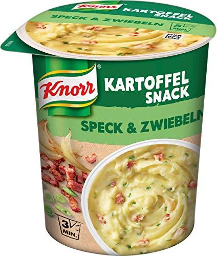 Knorr Kartoffel Snack Speck & Zwiebeln (mit nachhaltig angebauten Kartoffeln), 8er Pack ( 8 x 58g )