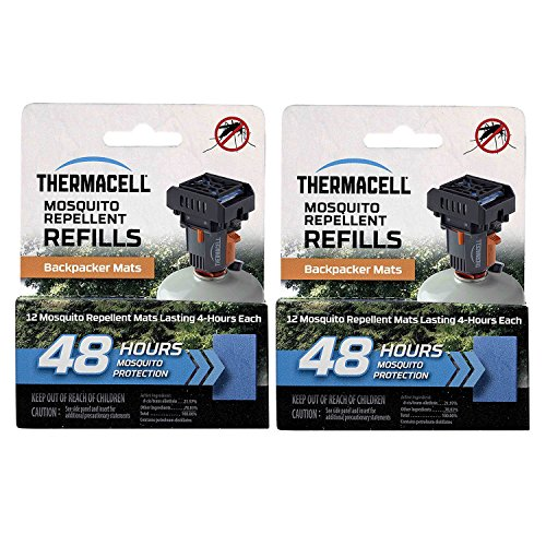 Thermacell M48 48-hrs Backpacker Mosquito Repellent Mats for MR-BP Repeller (24-Pack)