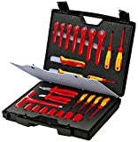 KNIPEX Maleta de herramientas estándar 26 piezas con herramientas aisladas para trabajar en instalaciones eléctricasaislado 1000V 98 99 12