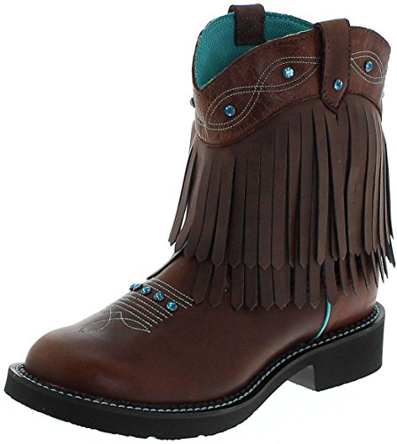 Justin Boots Damen Cowboy Stiefel L2932 Westernreitstiefel Lederstiefel Braun 38 EU