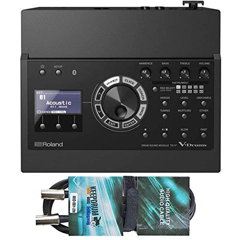 Roland TD-17 E-Drum Sound Modul + keepdrum MIDI Kabel 2m