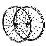 LHHL Paire Roues Vélo 700C pour Vélo Route Jante Double Paroi 30mm Frein en V Alliage D'aluminium...