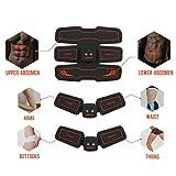 Hurrise Ems Electroestimulador Muscular Abdominales Cinturón, Tonificador Del Abdomen/Cintura/Pierna/Brazo Para 6 Modos