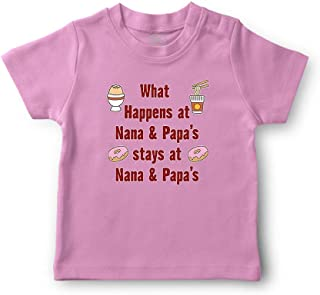 What Happens at & Papa's Stays at Nana & Papa's Boys-Girls Cotton T-Shirt