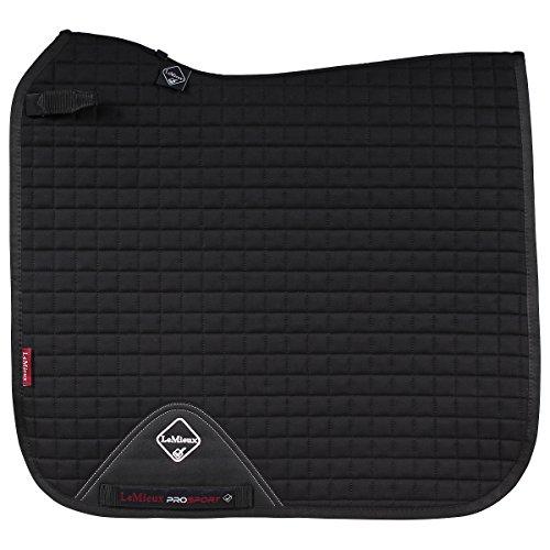 LeMieux Prosport Dressur-Schabracke aus Baumwolle, quadratisch M Schwarz