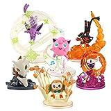 hhjxydst 6 Pz/Set Anime Rowlet Jigglypuff Litten Eevee Sylveon Cubone Absol Action PVC Figure da Collezione Model Toys